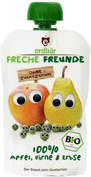 Erdbär Freche Freunde Bio Quetschmus Apfel, Birne und Erbse 6 x 100 g