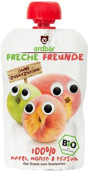erdbär Freche Freunde Quetschmus Apfel, Mango und Pfirsich (6 x 100 g)