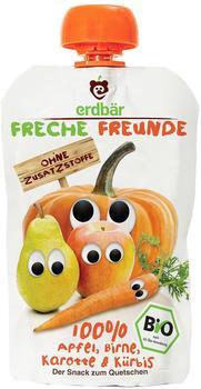 erdbär Freche Freunde Quetschmus Apfel, Birne, Karotte und Kürbis (6 x 100 g)