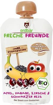 erdbär Freche Freunde Apfel, Banane, Kirsche und Schwarzer Reis (6 x 100 g)