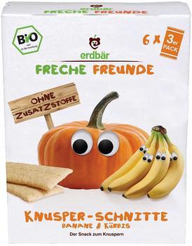 erdbär Freche Freunde Knusper-Schnitte Banane und Kürbis (6 x 84 g)