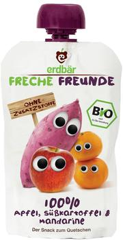 erdbär Freche Freunde 100 Prozent Apfel, Süßkartoffel und Mandarine (6 x 100 g)