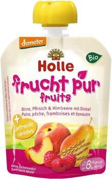 Holle Pouchy Birne, Pfirsich & Himbeere mit Dinkel (90g)