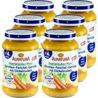 Alnatura Karotten-Fenchel-Gemüse mit Dinkelnudeln 6 x 190 g