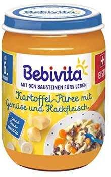 Bebivita Kartoffel-Püree mit Gemüse und Hackfleisch 190g