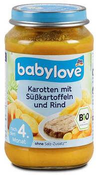 dm Babylove Karotten mit Süßkartoffeln & Rind 190g