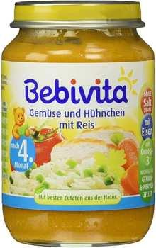 Bebivita Gemüse und Hühnchen mit Reis 190g