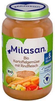 Milasan Bio Karotten, Kartoffeln mit Rindfleisch 190g