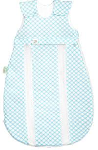 Odenwälder BabyNest prima klima Jersey-Schlafsack Check soft mint