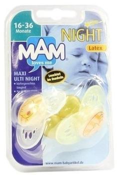 MAM Night Beruhigungsschnuller Latex 16-36 Monate (2 Stück)