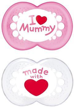 MAM Original Silikon 6+ I love Mummy Girl