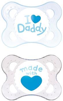 MAM Original Silikon (0 - 6 Monate) I love Daddy Boy
