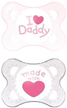 MAM Original Silikon (0 - 6 Monate) I love Daddy Girl