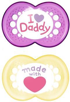 MAM Original Silikon 6+ I love Daddy Girl
