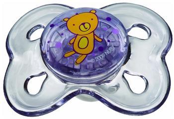 Nuby Beruhigungssauger Brites Mini flach-oval (0-2 Monate)