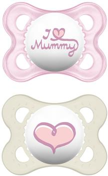 MAM Original Silikon (0 - 6 Monate) I love Mummy Girl