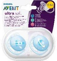 Philips Schnuller Ultra Soft Gr.1, Jungen, 2er Pack