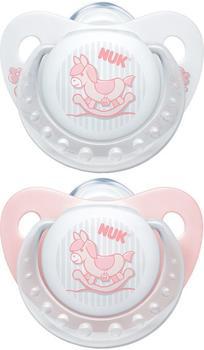 NUK Trendline Baby Rose Silikon-Schnuller Gr. 2 (2 Stück)