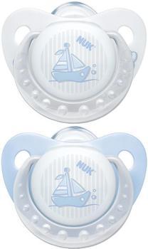 NUK Trendline Baby Blue Silikon-Schnuller Gr. 2 (2 Stück)