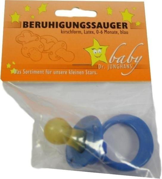 Dr. Junghans Medical BERUHIGUNGSSAUGER Kirschf.Lat.0-6 M.blau 1 St