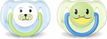 philips-avent-klassik-design-schnuller-6-18-monate-scf182-14-baer-frosch-doppelpack-jungen