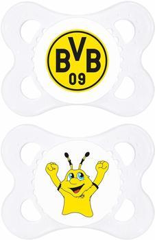 MAM Borussia Dortmund Schnuller Sil.0-6 Mo, 2 Stk