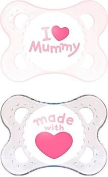MAM Original Silikon (0 - 6 Monate) I love Mummy