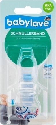 Babylove Schnullerband für Schnuller ohne Greifring