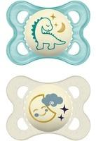 mam-original-night-latex-schnuller-im-2er-set-leuchtender-baby-schnuller-zahnfreundliches-und-kiefergerechtes-design-mit-schnullerbox-0-6-monate-dino-mond