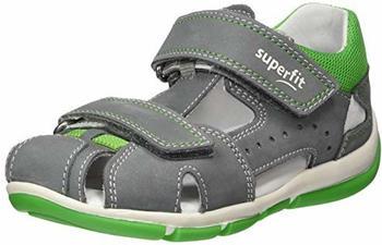 Superfit Baby-Sandalen (6-00141) grau/grün