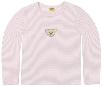 Steiff Langarmshirt Miniringel rosa/weiß