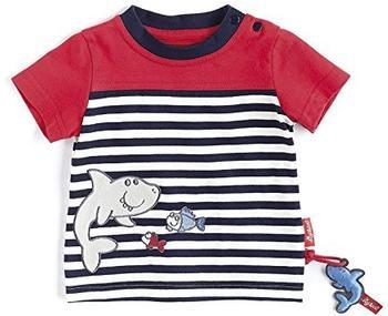 Sigikid T-Shirt Sealife Boy gestreift marine/rot
