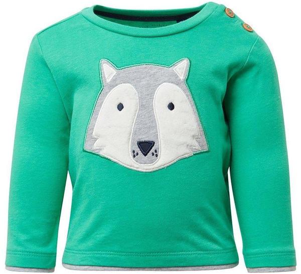 Tom Tailor Langarmshirt mit Wolfs-Print (60000251) green