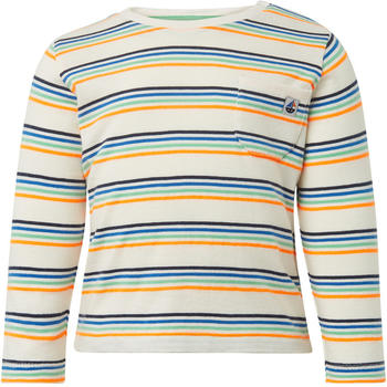 Tom Tailor Gestreiftes Langarmshirt mit Brusttasche (60000998) white