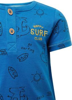 Tom Tailor Henley T-Shirt mit Print (60001527) blue