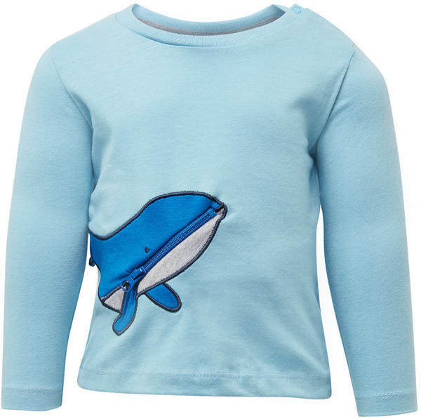 Tom Tailor Langarmshirt mit Wal-Tasche (60001016) light blue
