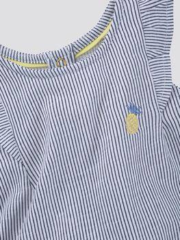 Tom Tailor Gestreiftes T-Shirt mit Volant (60001477) blue