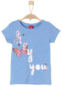 S.Oliver T-Shirt light blue melange (32.5022-53W2)