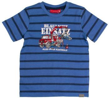 Salt and Pepper T-Shirt Fire stripes blue melange (83112156-448)