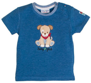 Salt and Pepper Glück T-Shirt Hund blue melange (83812122-455)