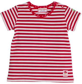Salt and Pepper Glück T-Shirt stripe cherry red (83812243-352)