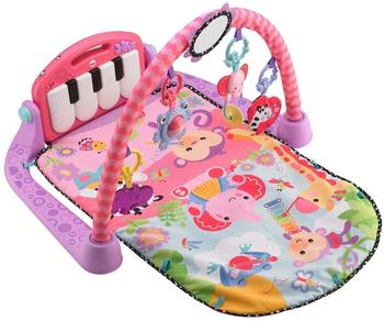 Mattel Fisher Price BMH48 Rainforest Piano-Gym mit Musik und Lichtern pink