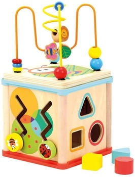 bino-84211-motorikwuerfel-baby-activity-center-holz