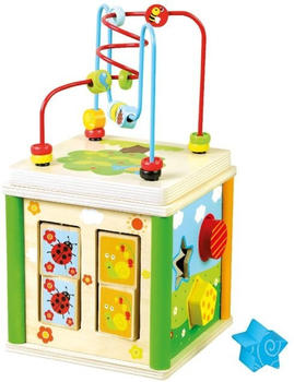 bino-84213-motorikwuerfel-baby-activity-center-holz
