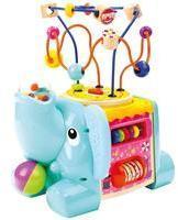 bino 84212 - Motorikwürfel, Elefant, Baby-Activity-Center