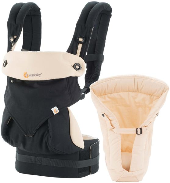 Ergobaby Four Position 360 Baby Carrier + Infant insert - Black/Camel