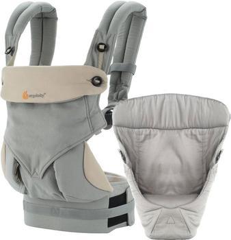 Ergobaby Four Position 360 Babytrage + Neugeboreneneinsatz - Grey