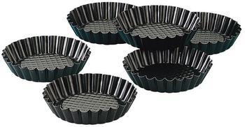 Zenker Tortelett-Set schwarz 6 tlg.