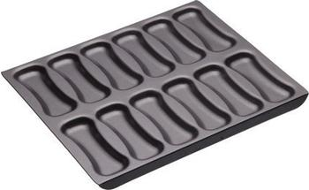Kitchen Craft Master Class Professional 12 Hole Non Stick Choux Pastry Eclair Baking Sheet