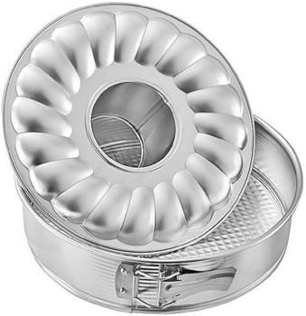 Zenker Silver Springform mit Flach- und Rohrboden 26 cm